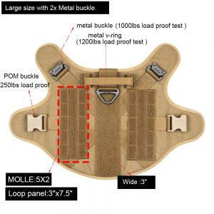 ICEFANG Tactical Dog Harness features